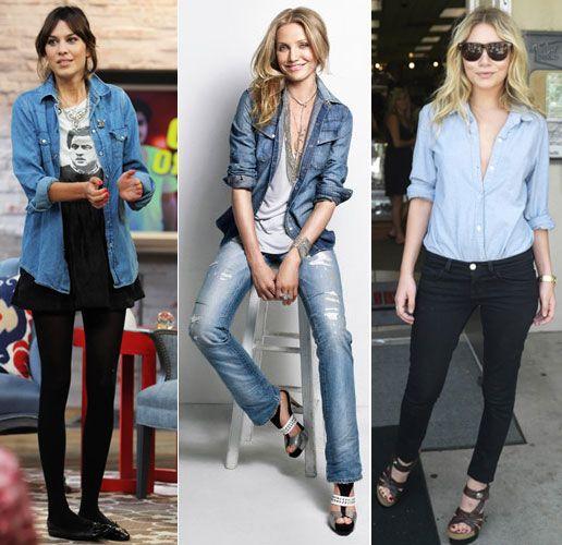 Tendance mode conseils mode bien porter une chemise en jeans - Comment porter une chemise femme ...